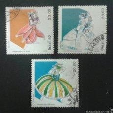 Sellos: SELLOS DE BRASIL. TRAJES. YVERT 1554/6. SERIE COMPLETA USADA.. Lote 53775798