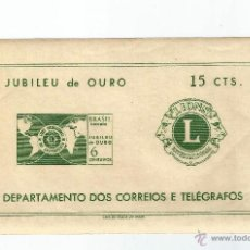 Sellos: BRASIL 1967 HOJA BLOQUE CINCUENTENARIO DE LIONS. Lote 54561322