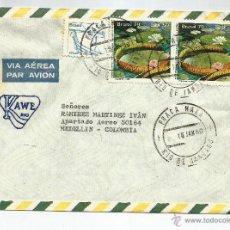 Sellos: BRASIL CORREO AEREO 1980 HISTORIA POSTAL SOBRE COMERCIAL. Lote 54604213