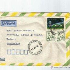 Sellos: BRASIL CORREO AEREO 1982 CARTA VOLADA DESDE BRASIL A COLOMBIA.. Lote 54604374