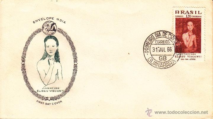 SOBRE: 1966 BRASIL. GUANABARA - JUVENTUDE ELISEU VISCONTI (Sellos - Extranjero - América - Brasil)