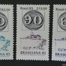 Sellos: SELLOS DE BRASIL SELLOS SOBRE SELLOS. YVERT 1615/7. SERIE COMPLETA NUEVA SIN CHARNELA.. Lote 55005242