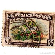 Sellos: BRASIL 1938-N.488--CAFE DE BRASIL- MULTICOLOR-USADO. Lote 56369945