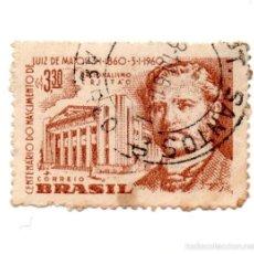 Sellos: BRASIL 1960-N.987.--LUIZ DE MATEO--MARRON-USADO. Lote 56390588