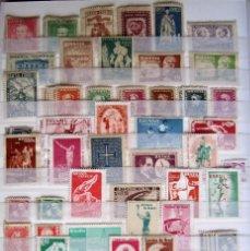 Sellos: 210 SELLOS + 8 HOJITAS + 3 BLOQUES NUEVOS BRASIL. Lote 58500130