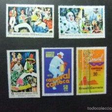 Sellos: BRESIL BRASIL 1969 CARNAVAL DE RIO DE JANEIRO YVERT Nº 918 / 922 ** MNH. Lote 58682894
