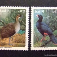 Sellos: BRASIL BRÉSIL 1995 ESPECIES EN PELIGRO FAUNA OISEAUX YVERT Nº 2230 / 31 ** MNH. Lote 58812756