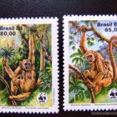 Sellos: BRASIL BRÉSIL 1984 PROTECTION DE LA FAUNE WWF YVERT Nº 1672 / 73 ** MNH. Lote 58891871