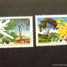 Sellos: BRASIL BRÉSIL 1990 SOCIEDAD DE BOTANICA YVERT Nº 1948 / 49 ** MNH. Lote 58893311