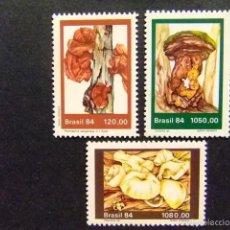 Sellos: BRASIL BRÉSIL 1984 SETAS CHAMPIGNONS YVERT Nº 1692 / 94 ** MNH. Lote 59087285