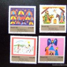Sellos: BRASIL BRÉSIL 1982 NAVIDAD NOËL YVERT Nº 1567 / 70 ** MNH. Lote 59087310