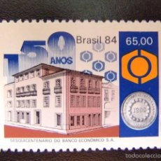 Sellos: BRASIL BRÉSIL 1984 150º ANIVERSARIO DEL BANCO ECONOMICO YVERT Nº 1677 ** MN. Lote 59087335