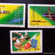 Sellos: BRASIL BRÉSIL 1984 CENTENARIO DEL NACIMIENTO DEL PRESIDENTE GETULIO VARGAS YVERT Nº 1656 /58 ** MNH. Lote 59087450