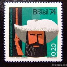 Sellos: BRASIL BRÉSIL 1974 TRICENTENAIRE DE L´EXPÉDITION AU MINAS GERAIS YVERT Nº 1112 ** MNH. Lote 59087580