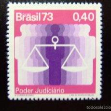 Sellos: BRASIL BRÉSIL 1973 PODER JUDICIAL YVERT Nº 1075 ** MNH. Lote 59087645