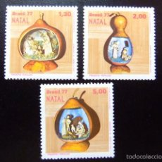 Sellos: BRASIL BRÉSIL 1977 NAVIDAD NOËL CHRISTMAS YVERT Nº 1286 / 88 ** MNH. Lote 59162285