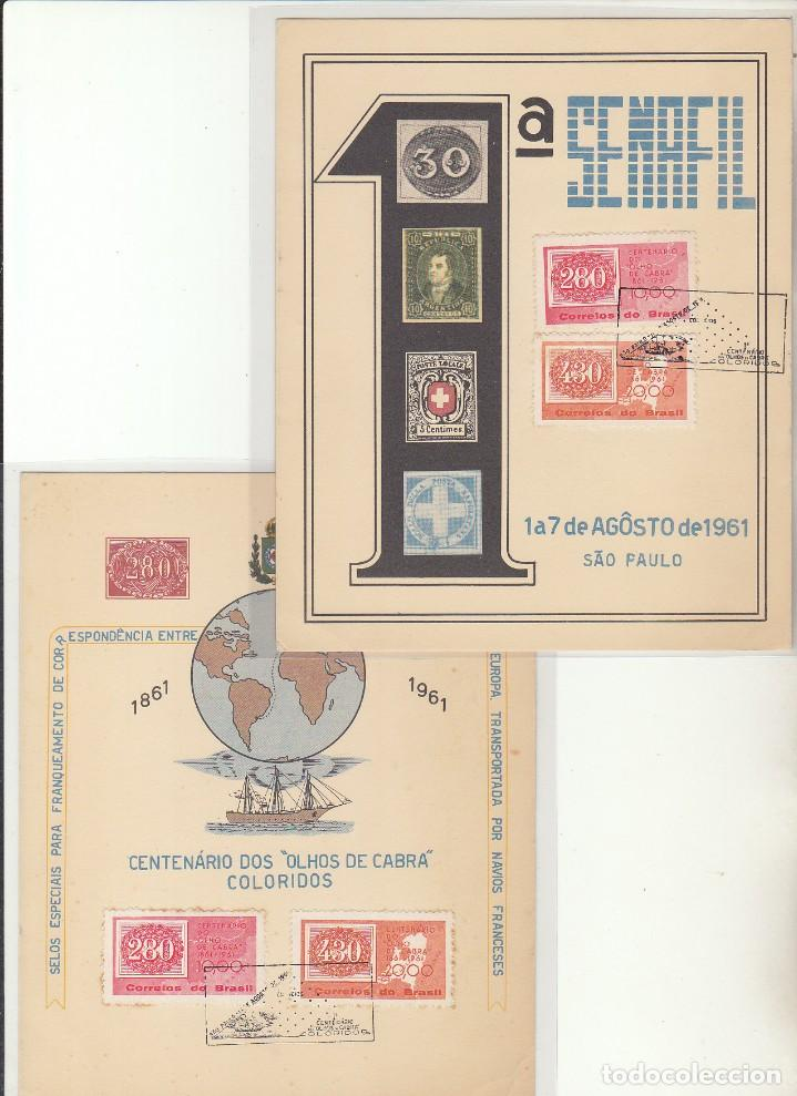 CENTENARIO-OJOS DE CABRA-. 1 SENAFIL. 1961 (Sellos - Extranjero - América - Brasil)
