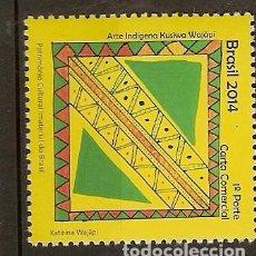 Sellos: BRASIL ** & PATRIMONIO MUNDIAL INMATERIAL, ARTE INDÍGENA, KUSIWA WAJÃPI 2014 (6545). Lote 63694091