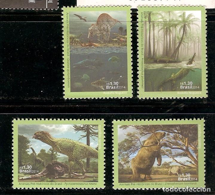 BRASIL ** & ANIMALES PREHISTÓRICOS DE BRASIL 2014 (4567) (Sellos - Extranjero - América - Brasil)