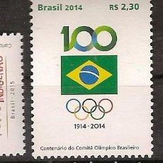 Sellos: BRASIL ** & CENTENARIO DEL COMITÉ OLÍMPICO DE BRASIL 2014 (5676). Lote 63725959