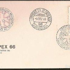 Sellos: BRASIL & FDC LUBRAPEX, EXPO. FILATÉLICA LUSO-BRASILEIRA, GUANABARA 1966 (807). Lote 69645613