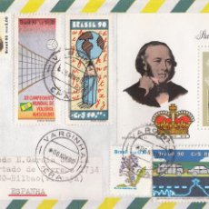 Sellos: SOBRE: 1990 BRASIL. VARGINHA - STAMP WORD LONDON 90. Lote 54785115