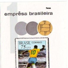 Sellos: BRASIL. HB 24 EDSON ARANTES DO NASCIMENTO PELÉ. GOL. FÚTBOL. SIN DENTAR. 1969. SELLOS NUEVOS Y NUMER. Lote 288728568