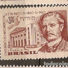 Sellos: BRASIL * & NACIMIENTO DE LUIZ CENTENARIO MATOS 1960 (688). Lote 77997889