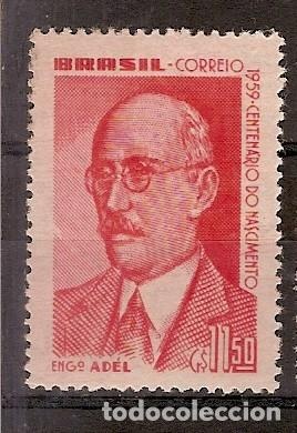 BRASIL ** & CENTENARIO DEL NACIMIENTO DE ADÉL PINTO, INGENIERO 1959 (690) (Sellos - Extranjero - América - Brasil)