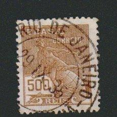 Sellos: BRASIL.1920-24.- 500 RS.YVERT 177.USADO.. Lote 79346673