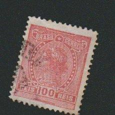 Sellos: BRASIL.1918-19.- 100 RS.YVERT 155.USADO.. Lote 79349957