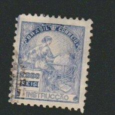 Sellos: BRASIL.1920-24.- 2.000 RS.YVERT 180.USADO.( RARO, COLOR ULTRAMAR ).. Lote 79353841