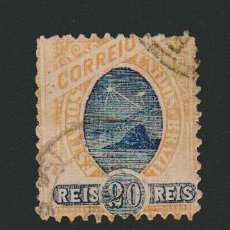 Sellos: BRASIL.1894.- 20 RS.YVERT 80.USADO.. Lote 79552513