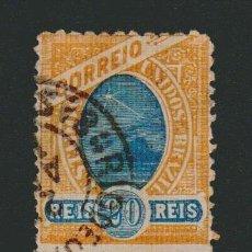 Sellos: BRASIL.1894.- 20 RS.YVERT 80.USADO.. Lote 79552585