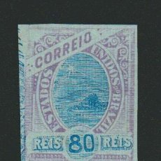 Sellos: BRASIL.1894.-FRAGMENTO DE TARJETA ENTERO POSTAL.80RS.. Lote 79552761