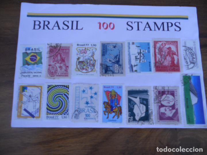 LOTE 100 SELLOS BRASIL (Sellos - Extranjero - América - Brasil)