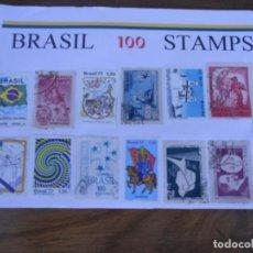 Sellos: LOTE 100 SELLOS BRASIL. Lote 80202937