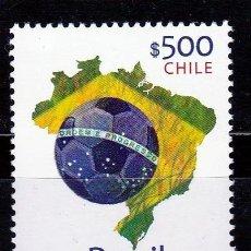 Sellos: CHILE. 2014. SERIE: MUNDIAL FUTBOL BRASIL 2014 **. MNH. Lote 82069808