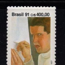 Sellos: BRASIL 2043** - AÑO 1991 - PINTURA - CENTENARIO DEL NACIMIENTO DEL PINTOR LASAR SEGALL. Lote 276522338