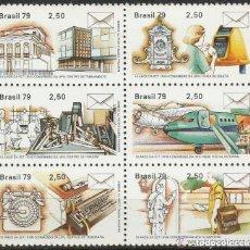 Sellos: BRASIL.1979. ANIVERSARIO POSTAL Y TELEGRAFO. SERIE . **. MNH. Lote 86188236
