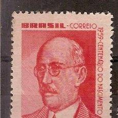 Sellos: BRASIL * & CENTENARIO DEL NACIMIENTO DEL INGENIERO ADEL PINTO 1959 (690). Lote 89177776