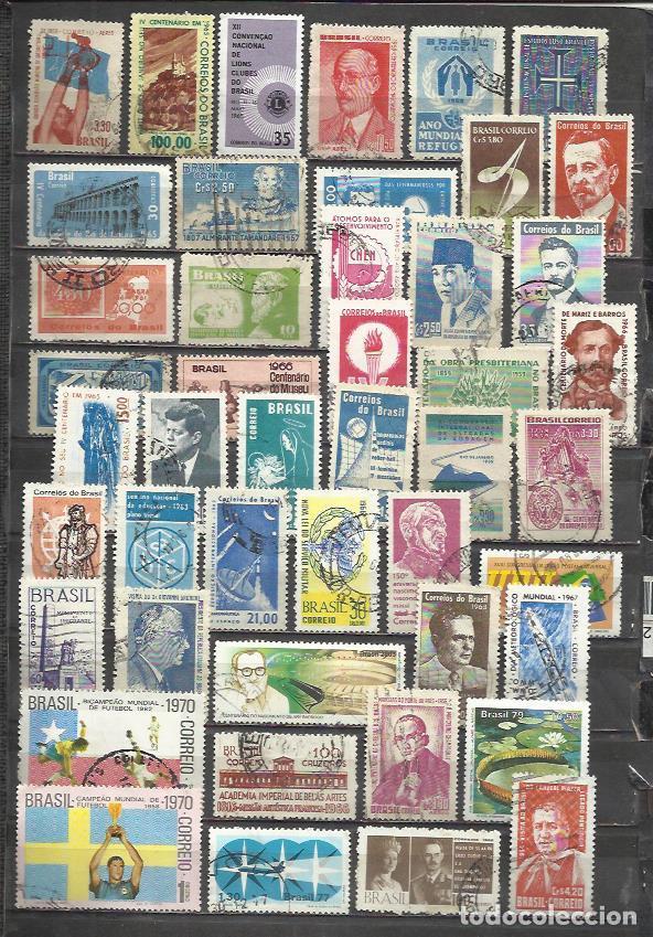 G164A-LOTE ANTIGUOS SELLOS Y MODERNOS BRASIL,SIN TASAR,LOS DE LA IMAGEN,VEA,LEA.BUENOS.AMERICA SUR * (Sellos - Extranjero - América - Brasil)