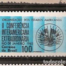 Sellos: BRASIL ** & II CONFERENCIA DE LA ORGANIZACIÓN DE LOS ESTADOS AMERICANOS 1965 (787). Lote 94690223