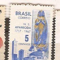 Sellos: BRASIL ** & 250 ANIVERSARIO DE NUESTRA SEÑORA DE LA APARECIDA 1717-1967 (834). Lote 94946999