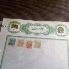Sellos: BRASIL LOTE DE 4.SELLOS EN HOJA REIPER. Lote 98566931