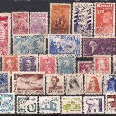 Sellos: BRASIL - LOTE 34 SELLOS DIFERENTES - NUEVO Y USADO. Lote 98864575