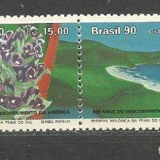 Sellos: BRASIL YVERT NUM. 1986A ** SERIE COMPLETA SIN FIJASELLOS. Lote 101531255