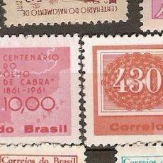 Sellos: BRASIL & ** & 100 AÑOS DEL SELLO OJO DE BOI 1961 (710). Lote 104600003