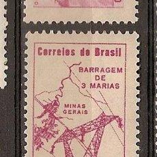 Sellos: BRASIL ** & AEREO, PRESA DE TRES MARÍAS, MINAS GERAIS 1961 (93). Lote 105687307