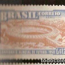 Sellos: BRASIL * & CAMPEONATO MUNDIAL DE FÚTBOL, ESTADIO MUNICIPAL DE RÍO DE JANEIRO, MARACANÁ 1950 (64). Lote 105687447